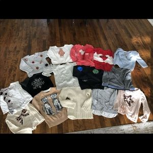 Lot of 15 shirts and sweaters size 5-6